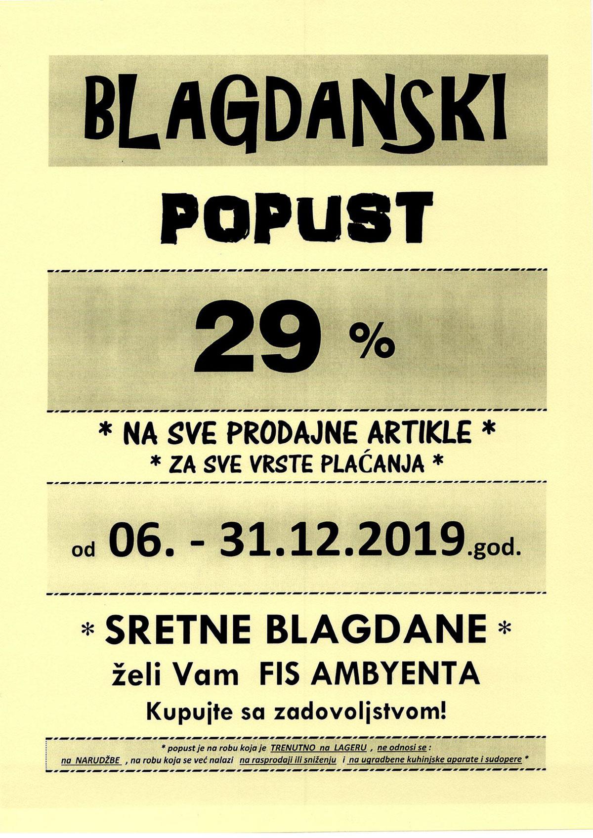 Blagdanski popust Ambyenta