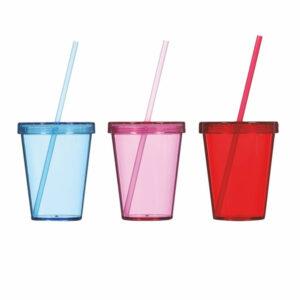 PVC čaša sa slamkom 450cc