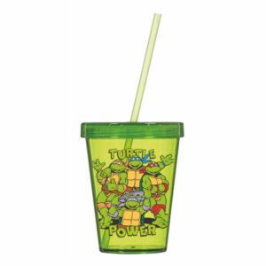 Staklena čaša sa slamkom