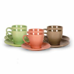 Set šalica 6/1 keramika 220cc ST1451