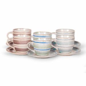 Set šalica 6/1 keramika 220cc ST1490