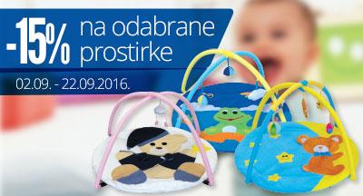 Baby prostirke snižene -15% do 22.09.2016.