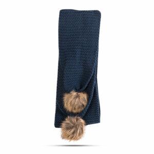 Ženski zimski pleteni šal