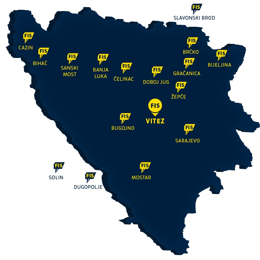 FIS - Mapa - Prodajni centri