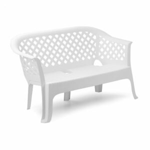 PVC klupa Lariana - bijela