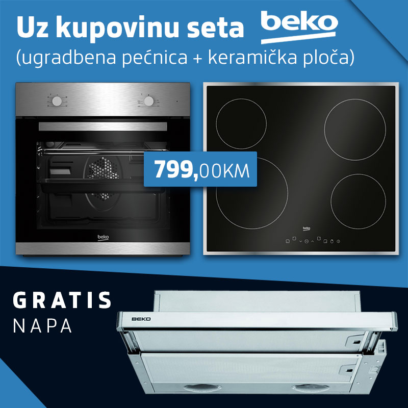 Beko set - Ugradbena ploča + keramička ploča + GRATIS napa