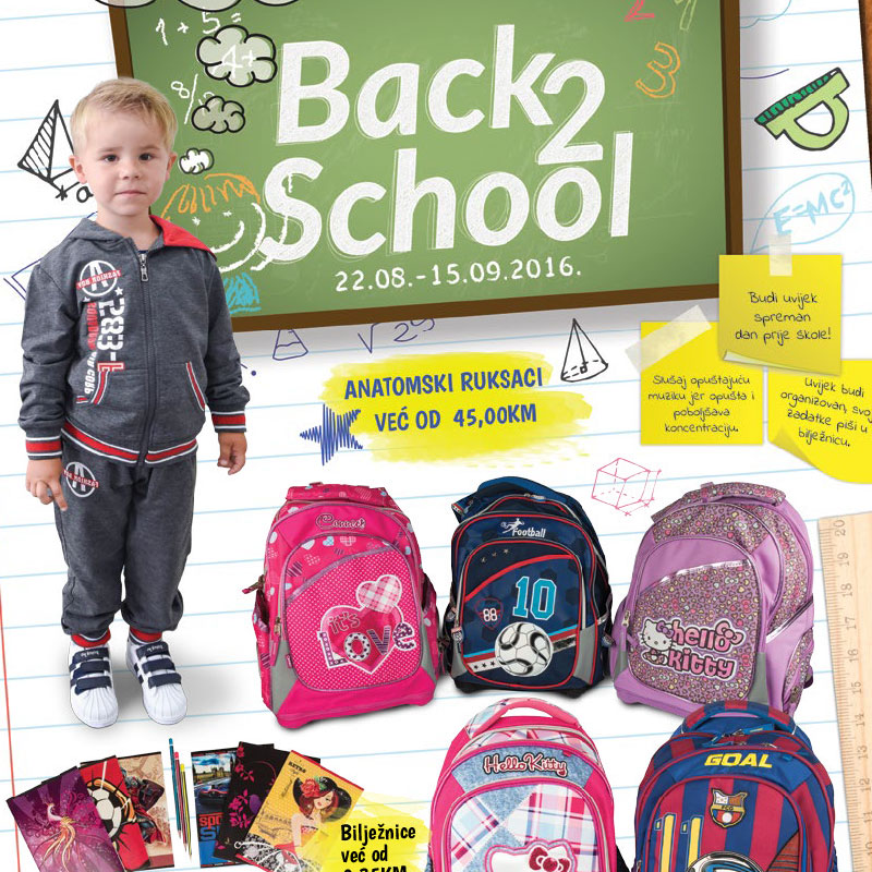 Back to school - 22.08. - 15.09.2016.