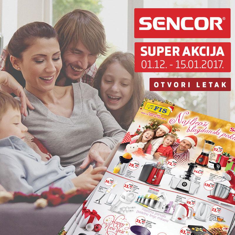 Sencor akcija do 15.01.2017.