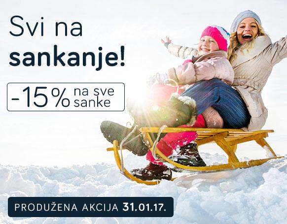 -15% na sve sanke do 31.01.2017.